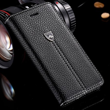 Luxury Business Top Quality Flip Genuine Leather Cover Case For Ap 32271242622-1-Black