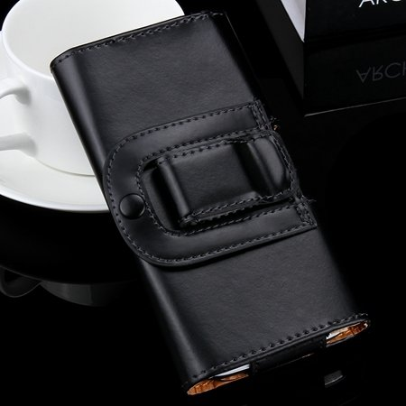 Common Flip Leather Case For Iphone 6 Plus 5S 4S For Samsung S5 S4 32298059590-1-Black