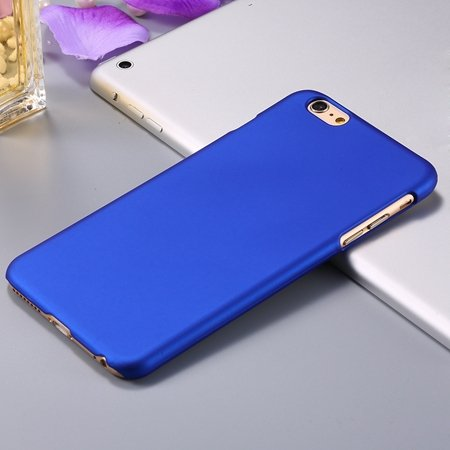 For Iphone 6 Plus Hard Case Retro Luxury Oil Wax Feeling Scrub Cas 32279138432-3-Blue