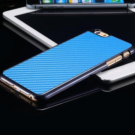 New Arrival Vintage Slim Carbon Fiber Pc Plating Case For Iphone 6 32225519016-4-Sky Blue