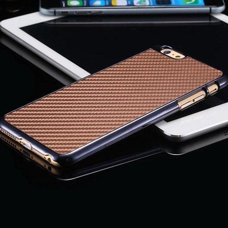 New Arrival Vintage Slim Carbon Fiber Pc Plating Case For Iphone 6 32225519016-5-Brown