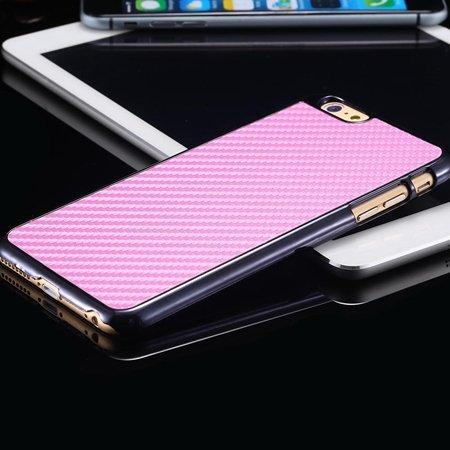New Arrival Vintage Slim Carbon Fiber Pc Plating Case For Iphone 6 32225519016-6-Pink