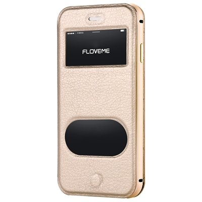 For Iphone6 5.5 Smart Case Luxury Flip Genuine Leather Case For Ip 32288778981-3-Gold