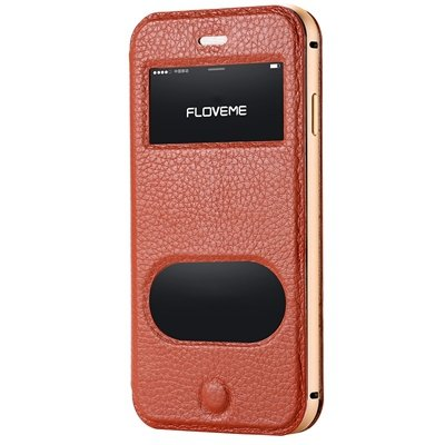 For Iphone6 5.5 Smart Case Luxury Flip Genuine Leather Case For Ip 32288778981-4-Brown