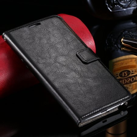 For Note Edge Case Vintage Stand Pu Flip Leather Case For Samsung  32275293499-1-Black