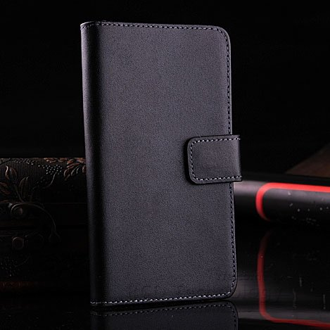 Retro Real Leather Case For Htc One M7 801E Luxury Wallet Stand St 1625334201-1-Black