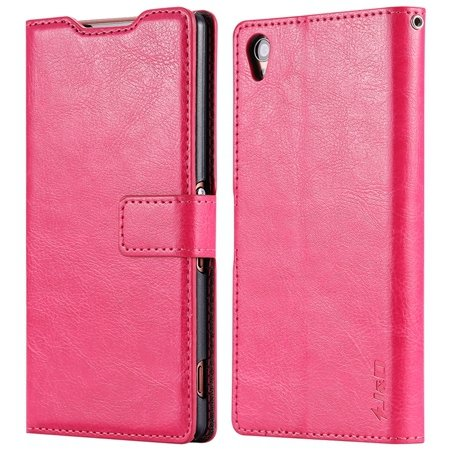 2015 New Arrival Luxury Pu Leather Case For Sony Xperia Z3 D6603 F 32278842578-1-Hot Pink