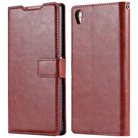 2015 New Arrival Luxury Pu Leather Case For Sony Xperia Z3 D6603 F 32278842578-4-Brown