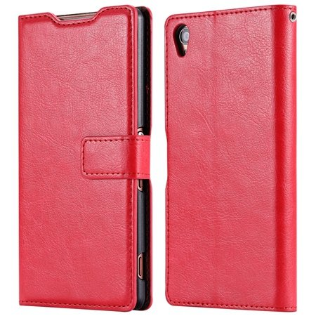 2015 New Arrival Luxury Pu Leather Case For Sony Xperia Z3 D6603 F 32278842578-6-Red