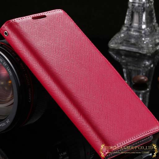 New Luxury Genuine Leather Case For Sony Xperia Z2 L50W Flip Walle 2008132819-4-hot pink