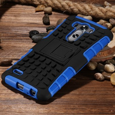 G3 High Quality Pc Hard Back Case For Lg G3 D830 D850 Stand Armor  32271031434-2-Blue