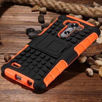 G3 High Quality Pc Hard Back Case For Lg G3 D830 D850 Stand Armor  32271031434-6-Orange