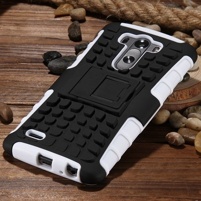 G3 High Quality Pc Hard Back Case For Lg G3 D830 D850 Stand Armor  32271031434-8-White