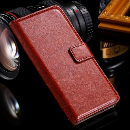 One M7 Wallet Pu Leather Case For Htc One M7 801E Stand Flip Case  32267923262-2-Brown