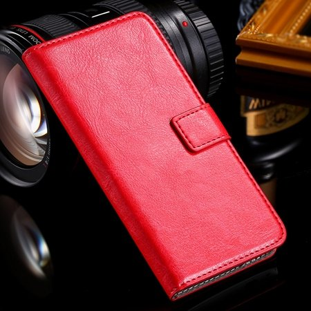 One M7 Wallet Pu Leather Case For Htc One M7 801E Stand Flip Case  32267923262-5-Red