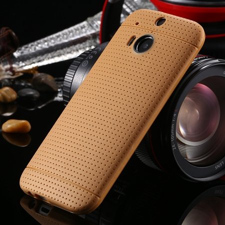 For Htc One M8 Case Top Quality Silicone Gel Soft Case For Htc One 2043067202-7-Light Brown