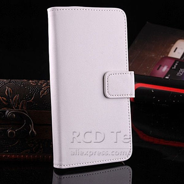 M7 Luxury Genuine Leather Case For Htc One M7 801E Flip Wallet Cas 1527023520-2-white