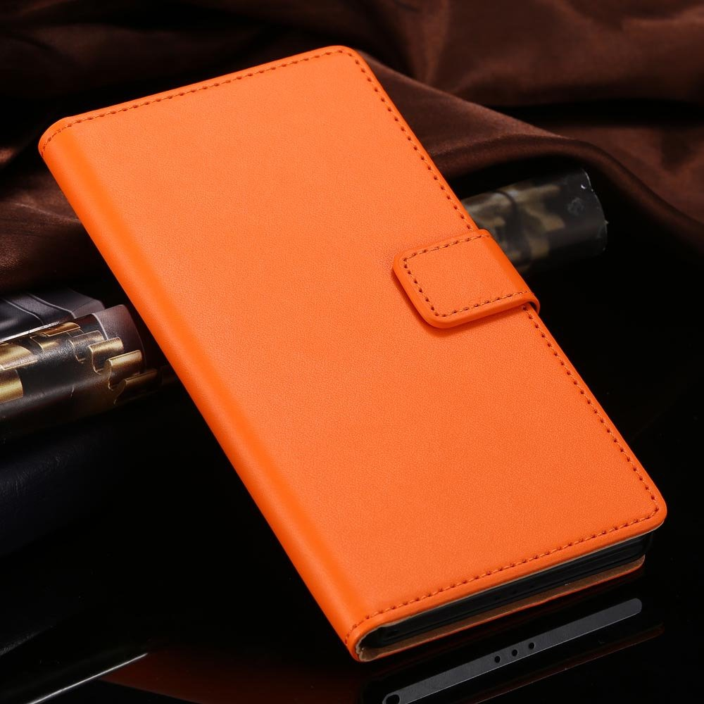 For Xperia Z2 Case Luxury Top Quality Genuine Leather Case For Son 1815119136-6-orange