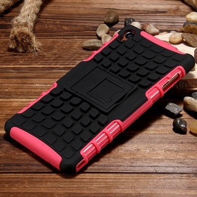 Z3 Case Retro Cool Luxury Slip-Proof Kick-Stand Armor Case For Son 32270150376-1-Pink