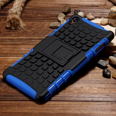 Z3 Case Retro Cool Luxury Slip-Proof Kick-Stand Armor Case For Son 32270150376-5-Blue