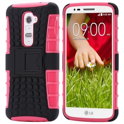 G2 Kick-Stand Hard Back Case For Lg G2 Optimus D801 F320 Korean Ar 32270514027-3-Pink