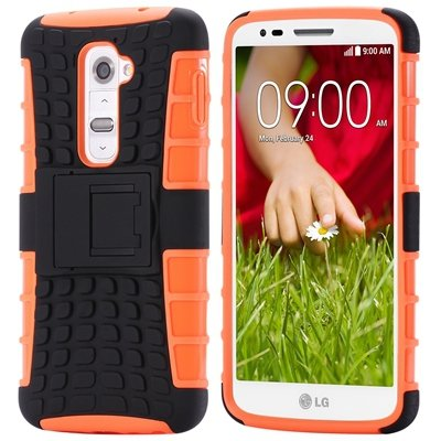 G2 Kick-Stand Hard Back Case For Lg G2 Optimus D801 F320 Korean Ar 32270514027-4-Orange