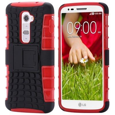 G2 Kick-Stand Hard Back Case For Lg G2 Optimus D801 F320 Korean Ar 32270514027-8-Red