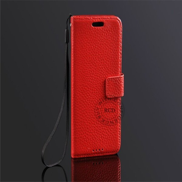 Retro Head Layer Cowhide Real Leather Case For Htc One M7 801E Fli 1527032421-1-Red