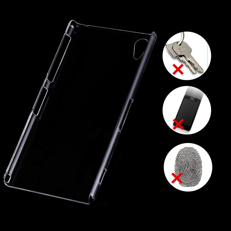 For Xperia Z2 Scratch-Proof Pc Hard Back Case For Sony Xperia Z2 L 32287896110-1-Clear