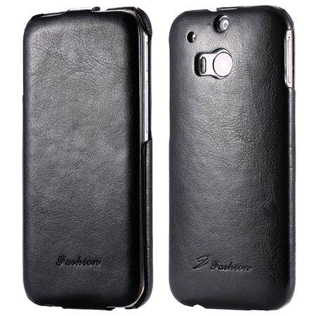 M8 Leather Case Luxury Retro Pu Vertical Flip Leather Case For Htc 32267795808-1-Black