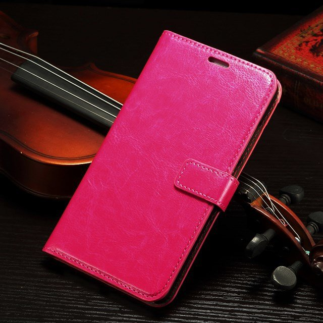 Retro Luxury Flip Pu Leather Case For Huawei Ascend Mate 7 Book St 32295540208-5-Hot Pink