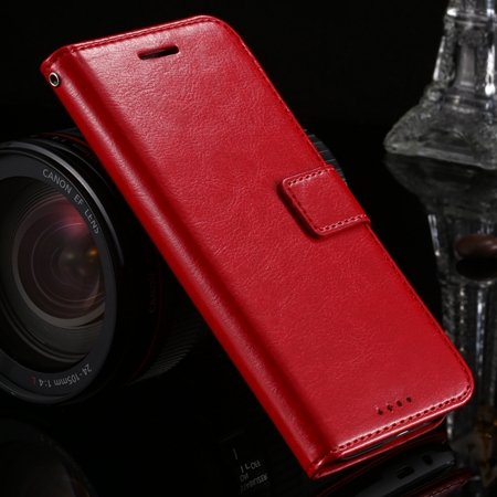 M8 Wallet Case Vintage Luxury Leather Case For Htc One M8 Flip Cel 32267497560-3-Red