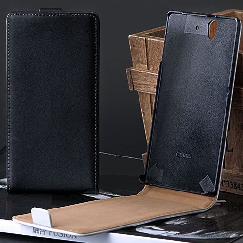 Cover For Sony Xperia L36H Korean Style Genuine Leather Case For X 1788346200-1-black