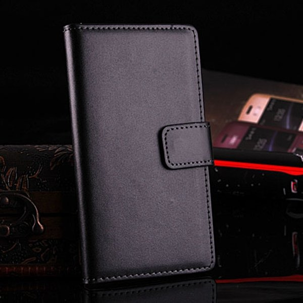 For Xperia L36H Case Korean Flip Style Genuine Leather Case For So 1788463912-1-black