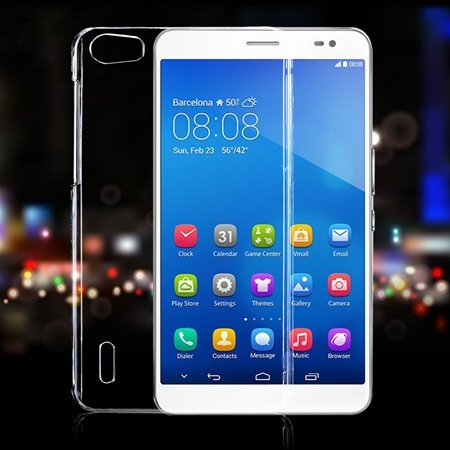 2015 Simple Pure Glass Transparent Crystal Clear Case For Huawei H 32287267862-1-Clear