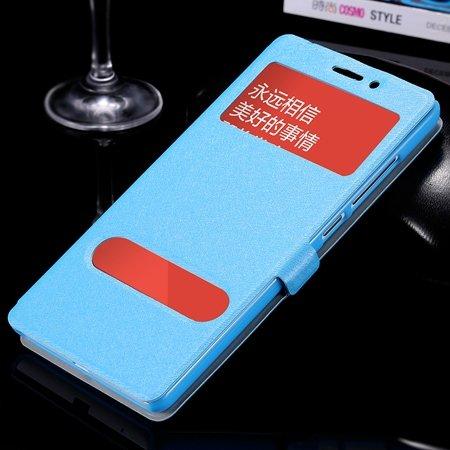 Luxury Soft Silk Pu Leather Case For Xiaomi Redmi Note Smart Windo 32283770203-4-Sky Blue