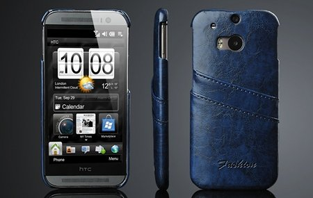 M8 Case Black Retro Luxury Wax Glossy Pu Leather Case For Htc One  2047286840-4-Blue