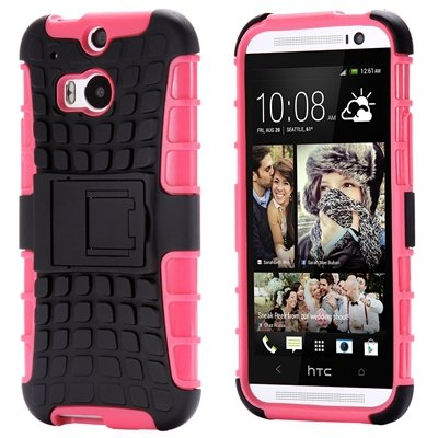 Retro Luxury Hard Pc + Soft Silicone Hybrid Case For Htc One M8 Ki 32294277993-1-Pink