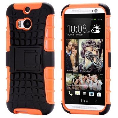 Retro Luxury Hard Pc + Soft Silicone Hybrid Case For Htc One M8 Ki 32294277993-2-Orange