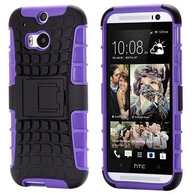 Retro Luxury Hard Pc + Soft Silicone Hybrid Case For Htc One M8 Ki 32294277993-6-Purple