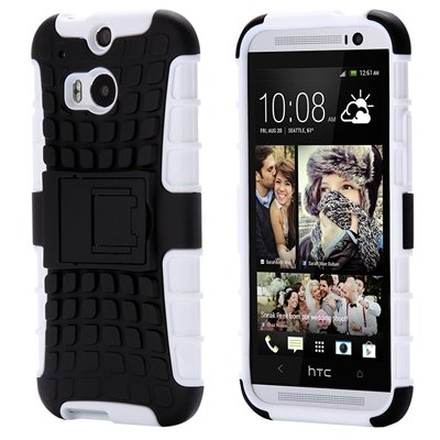 Retro Luxury Hard Pc + Soft Silicone Hybrid Case For Htc One M8 Ki 32294277993-8-White