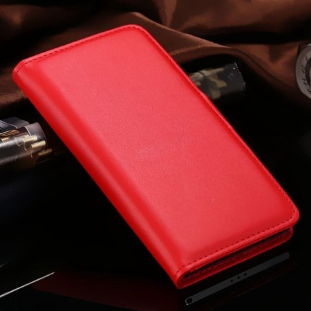 For Xperia Z2 Stand Wallet Case Vintage Luxury Plain Pu Leather Ca 32271440290-4-Red