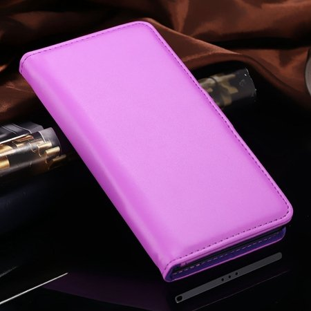 For Xperia Z2 Stand Wallet Case Vintage Luxury Plain Pu Leather Ca 32271440290-8-Purple
