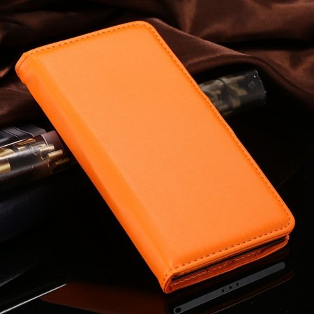 For Xperia Z2 Stand Wallet Case Vintage Luxury Plain Pu Leather Ca 32271440290-10-Orange