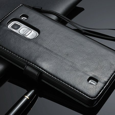 G2 Retro Luxury Pu Flip Leather Case For Lg G2 Optimus D801 Wallet 32283684355-1-Black
