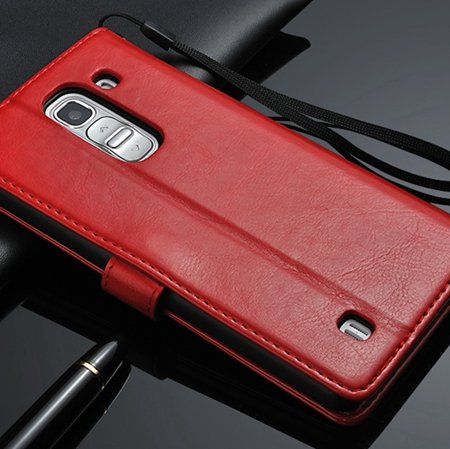 G2 Retro Luxury Pu Flip Leather Case For Lg G2 Optimus D801 Wallet 32283684355-3-Red