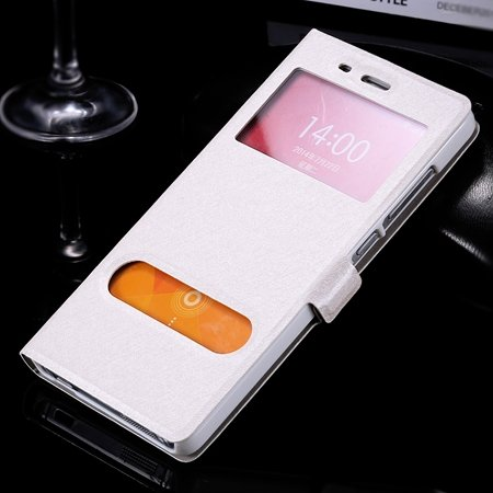 For Xiaomi4 Smart Cell Phone Cases Luxury Soft Slim Silk Pu Leathe 32283773119-2-Sliver