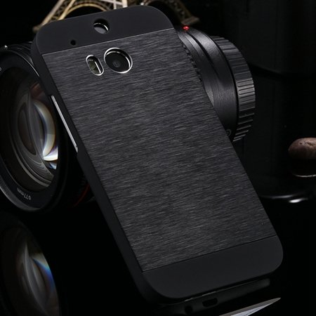 Deluxe Retro Aluminum Metal Case For Htc One M8 Electroplate Chrom 1927099860-1-Black