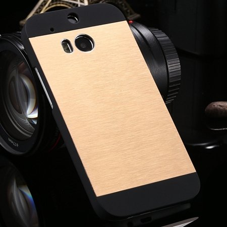 Deluxe Retro Aluminum Metal Case For Htc One M8 Electroplate Chrom 1927099860-3-Gold