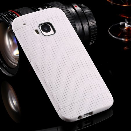 M9 Case Cute Polka Dot Silicone Soft Case For Htc One M9 Handy Sim 32305722338-2-White